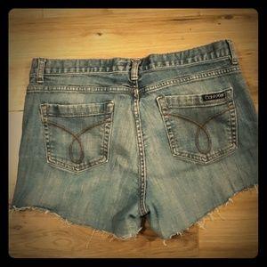 Vintage Calvin Klein Jeans Cutoff Shorts. Size 14
